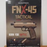 新着情報! マルイガスブローバック FNX-45  でかい!太ッとい!Cal45AUTOのタクティカル
